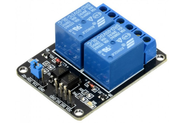 5V Dvojkanálový reléový modul