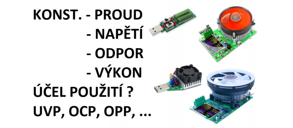 Elektronické laboratorní zátěže FZ35, DL24 a DL24P