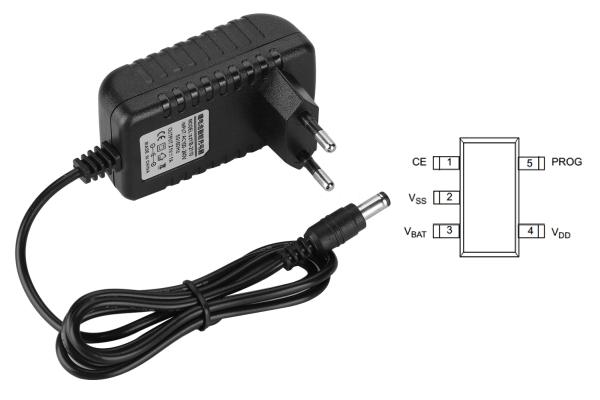 Jednoduchá nabíjačka pre lítium-iónové batérie s indikáciou nabitia batérie