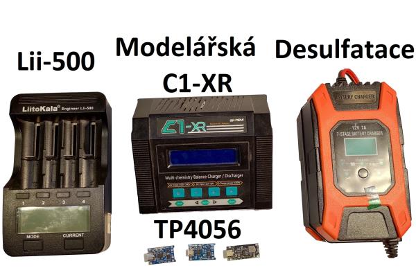Nabíječky - od modulů po modelářské