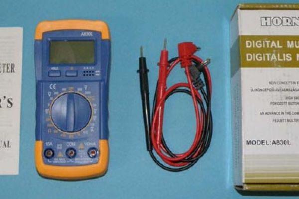 Nebezpečný výrobok : digitálny multimeter A 830L
