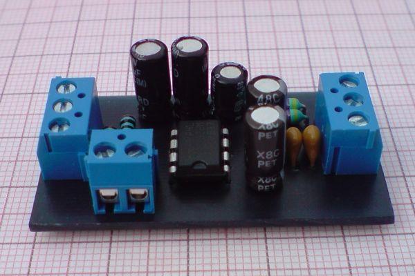 Modul nízkofrekvenčného zosilňovača s TDA2822M