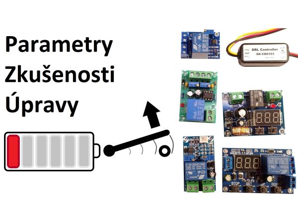 Rozbor a test modulů ochran před vybitím baterie