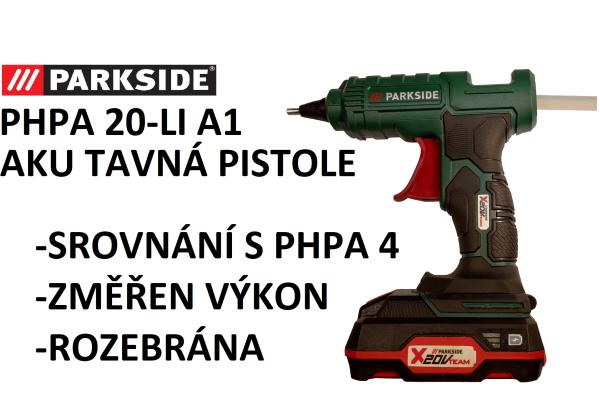 Videorecenze tavní pistole od Parkside X20V
